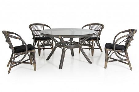 Kubor matbord Ø125 h72 grått Brafab