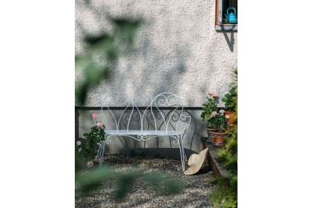 Odessa 2-sits soffa vit med grå dyna Brafab