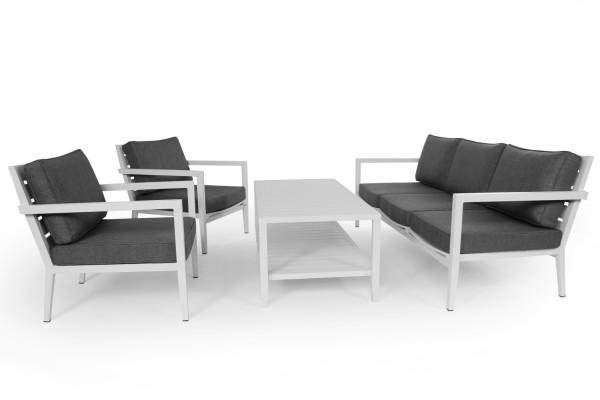 Biarritz soffa 3-sits vit med dyna Brafab