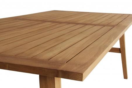 Vidos matbord 220x100 h74 blästrad natur Brafab