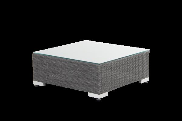 Ninja pall/bord 76x76 grå med dyna/glas Brafab