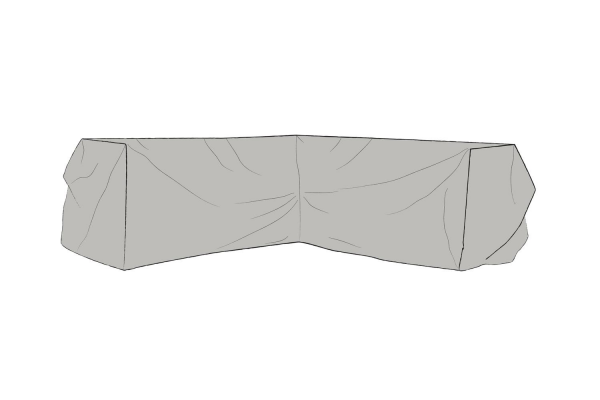 Möbelskydd hörnsoffa 225/225x84x65 grå Brafab