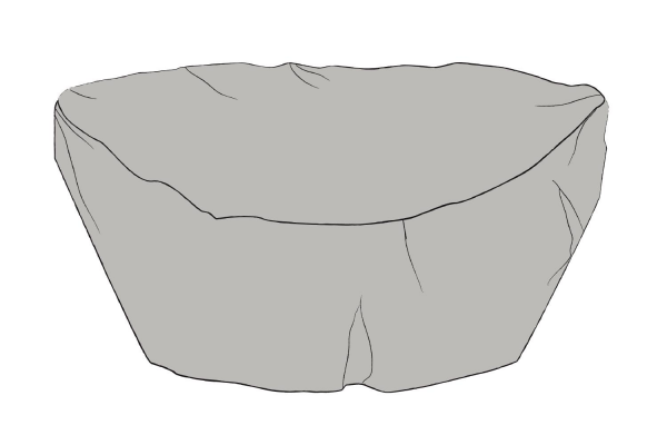 Möbelskydd solsäng 152/200x93 grå Brafab