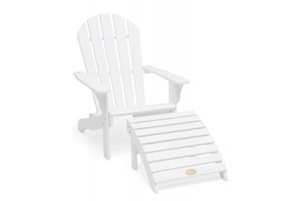 Tennessee däckstol + pall vit Hillerstorp