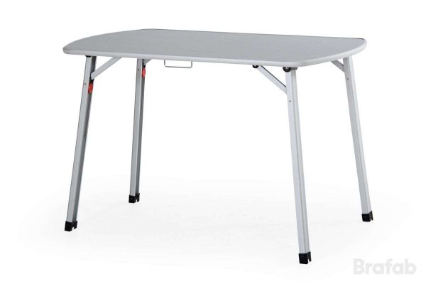 Wisla campingbord 110x70 matt aluminium/grå Brafab