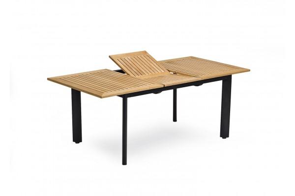 Bord Nydala 96x150/200 cm svart/teak Hillerstorp