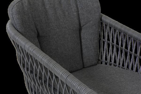 Kenton karmstol grå med dyna Brafab