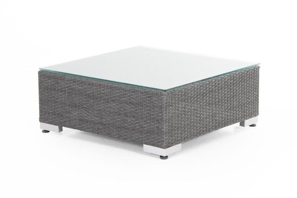 Ninja pall/bord 76x76 grå med grå dyna/glas Brafab
