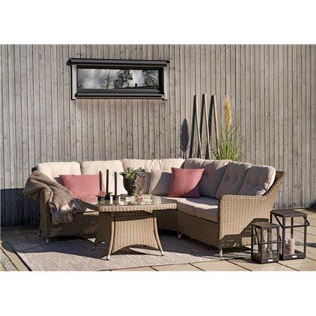 Hornbrook 2-sits soffa avslut HV beige med dyna Brafab