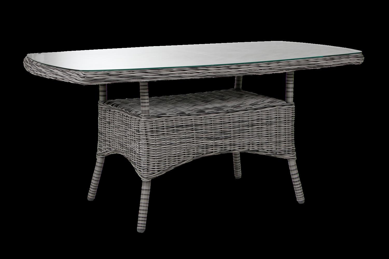 Rosita soffbord 150x80 H70 grå med glas Brafab