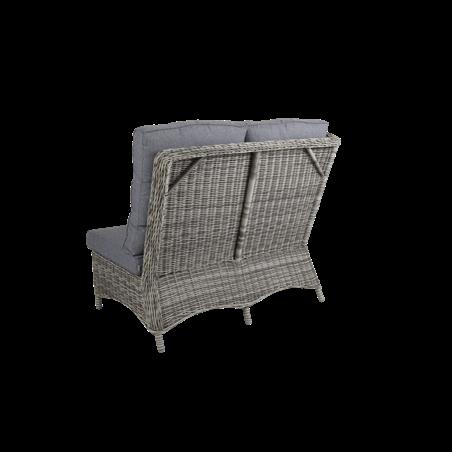 Rosita 2-sits soffa avslut HV grå med dyna Brafab