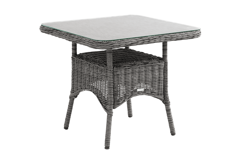 Rosita soffbord 80x80 H70 grå med glas Brafab