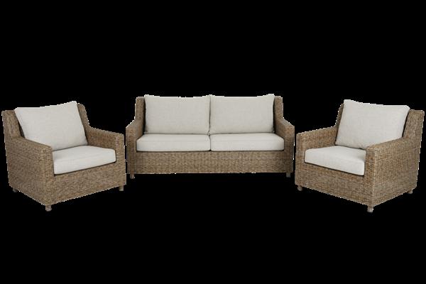 Sandkorn 2,5-sits soffa natur med dyna Brafab
