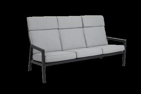 Belfort 3-sits soffa högrygg svart med dyna Brafab