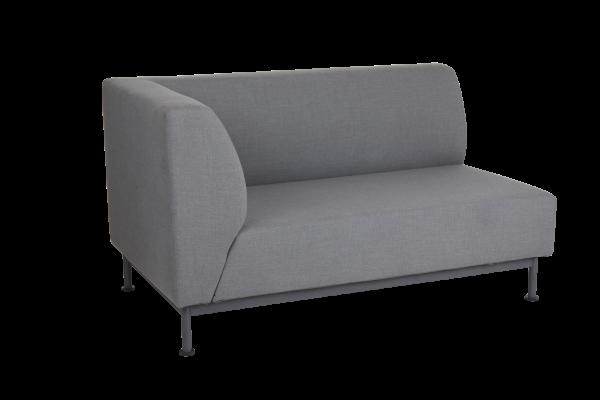 Norrsken 2-sits soffa höger avslut med dyna Brafab