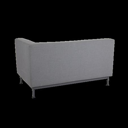 Norrsken 2-sits soffa vänster avslut med dyna Brafab