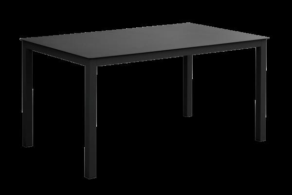 Rana matbord 150x90 H73 svart med glas Brafab
