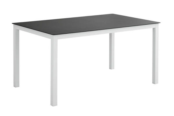 Rana matbord 150x90 H73 vit med glas Brafab