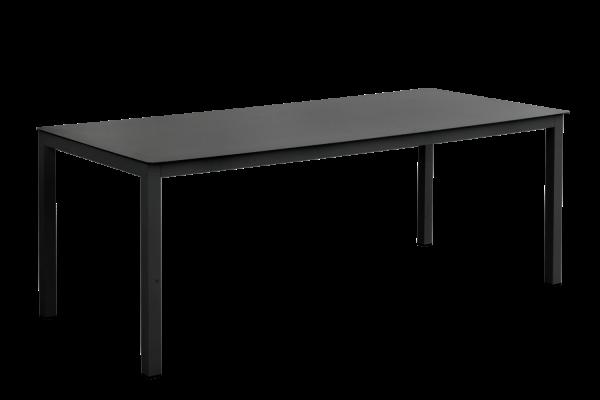 Rana matbord 200x90 H73 svart med glas Brafab