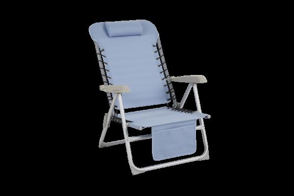 Ulrika strandstol ljusblå med ficka Brafab