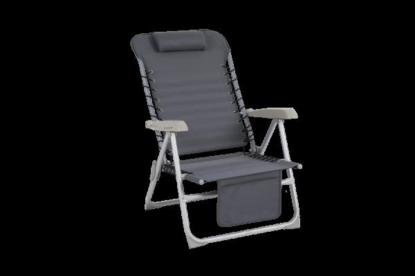 Ulrika strandstol grå med ficka Brafab