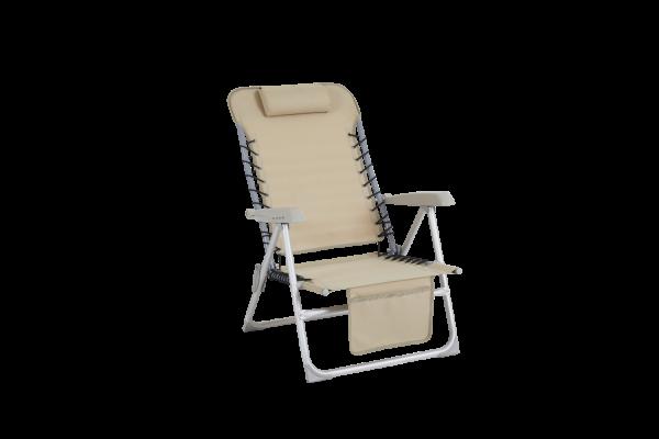 Ulrika strandstol beige med ficka Brafab