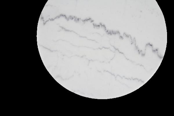 Bordsskiva marmor Ø60 cm vit Brafab