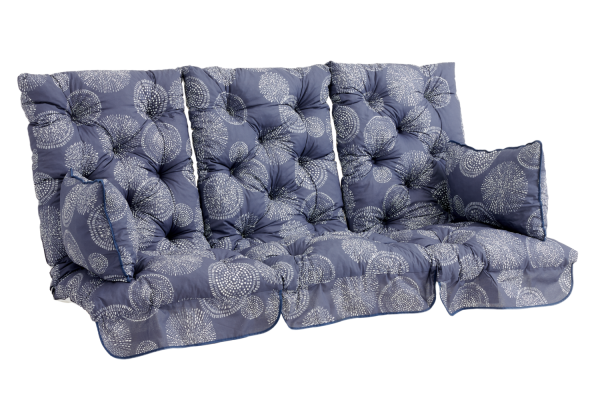 Softa hammockdynset blå mönstrat Brafab