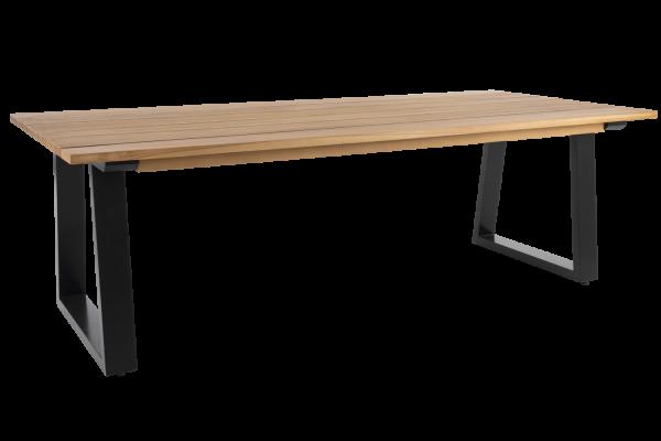 Laurion matbord 230x100 H73 cm natur/antracit Brafab