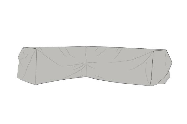 Möbelskydd hörnsoffa 295/225x84x65 grå Brafab