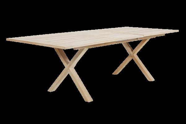 Brutus matbord 200/265x100 H75 cm vitpigmenterad Brafab
