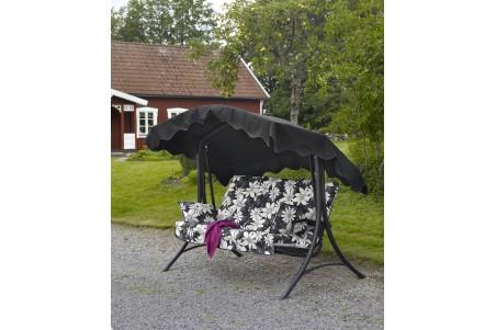 Sofia hammock välvd fällbar svart Brafab