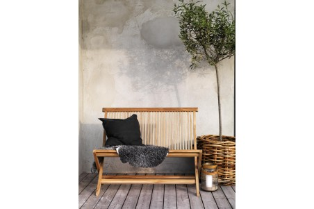 Turin soffa teak natur Brafab