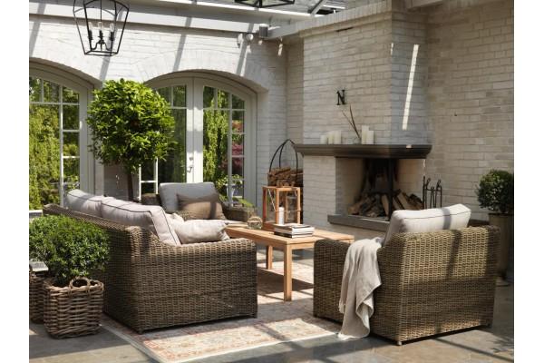 Glendon 3-sits soffa rustik med dyna Brafab