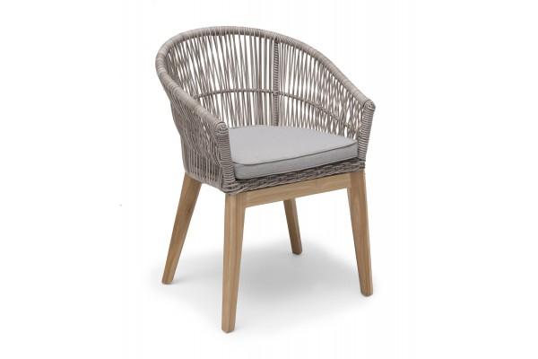 Himmelsnäs matstol beige med sittdyna Hillerstorp