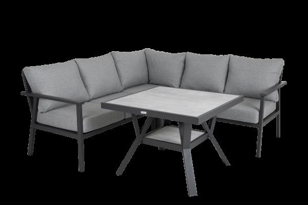 Samvaro hörngrupp mindre med bord grå Brafab
