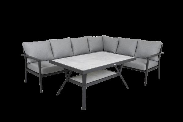 Samvaro hörngrupp med bord grå Brafab
