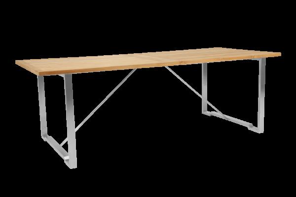 Gotland matbord 220x95 H73 cm grå/natur Brafab