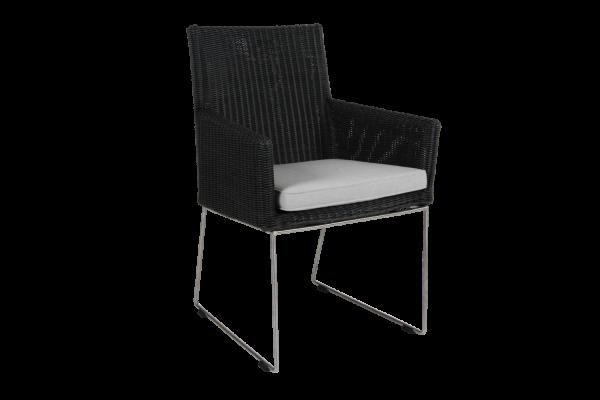 Dighton karmstol grå med dyna Brafab