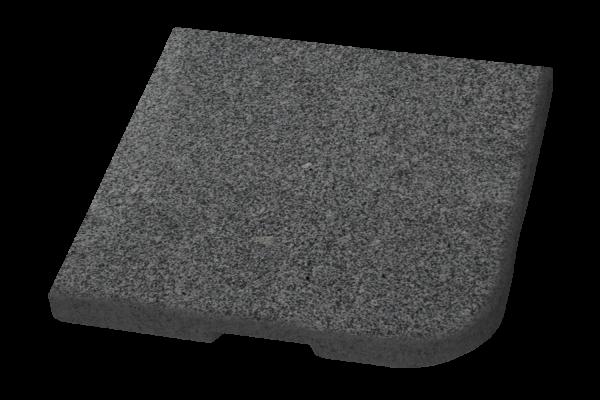 Abetone parasollfotsvikt grå 48x48 25 kg Brafab