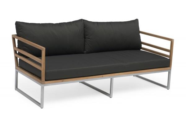Kaxheden 3-sits soffa brun Hillerstorp