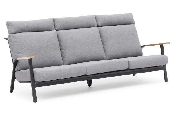 Kungshult 3-sits soffa grå Hillerstorp