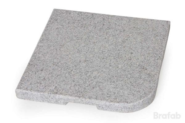 Abetone parasollfotsvikt granit 48x48 25 kg Brafab