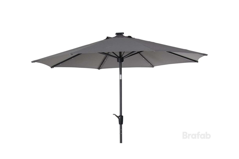 Sassari parasoll Ø270 antracit/grå