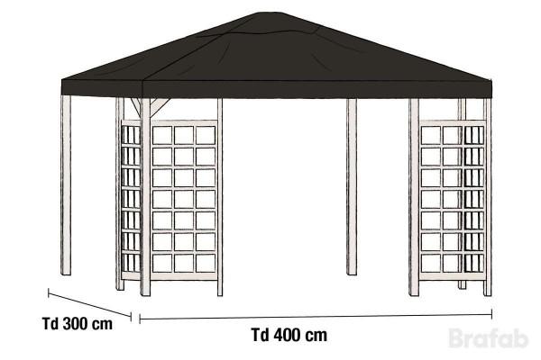 Hov paviljong 3x4 m Brafab