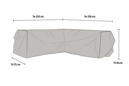 Leone möbelskydd hörnsoffa 220/220x75x65 grått Brafab