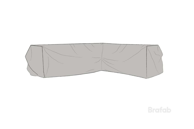 Leone möbelskydd hörnsoffa V220/H290x75x65 grått Brafab