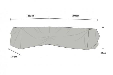 Leone möbelskydd hörnsoffa  H290/V220x75x65 grått Brafab
