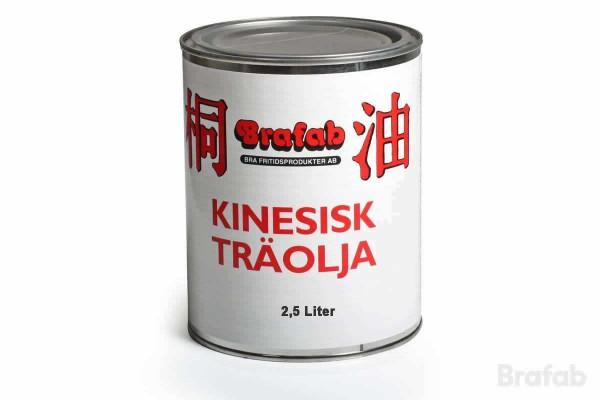 Kinesisk träolja ofärgad 2,5 liter Brafab