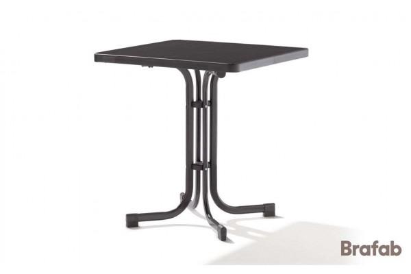 Mecalit bord fällbart 70x70 h72 antracit/svart Brafab